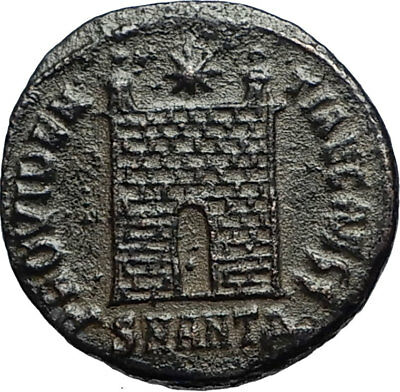 CONSTANTINE II Jr son of the Great Ancient 330AD Roman Coin CAMP GATE i67585