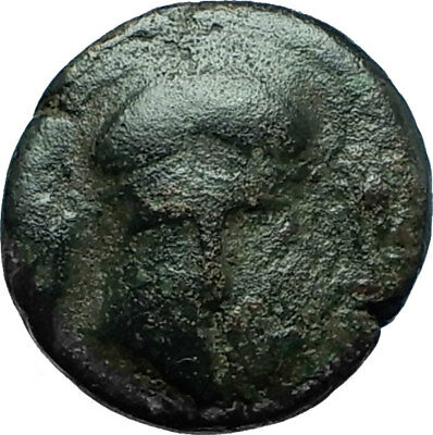 MESEMBRIA in Thrace 400BC Ancient Greek Coin CORINTHIAN HELMET & WHEEL i66570