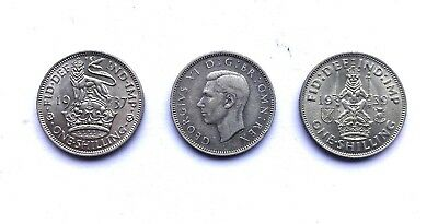 King George One Shilling Coin