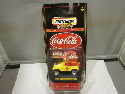 Matchbox Coca Cola Coke 1998 Jeep Wrangler Enduring Characters Yellow and Red
