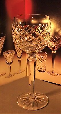 """WATERFORD Crystal - TYRONE Hock Glass / Glasses - 7 3/8"""" 604/582"""