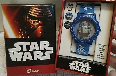 Kids Disney Star Wars R2-D2 Wrist Watch Digital Blue