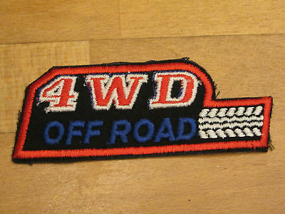 Vintage 4x4 OFFROAD 4WD Patch Aufnäher Original OFF ROAD 70er 80er Jeep NOS 11cm