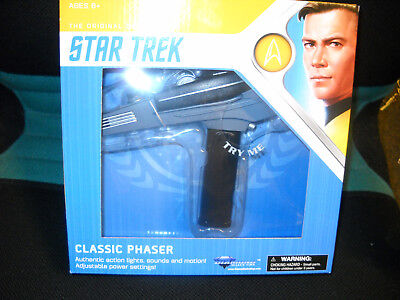 Star Trek Classic Black Handle Phaser mit Light! and Sound!