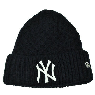 premium selection 234ba 72876 MLB New Era Cuffed Cutie New York Yankees Crochet Womens Knit Beanie Hat  Blue