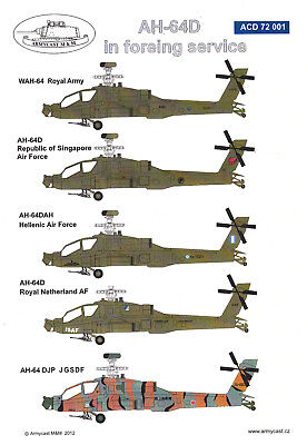 acd72001/ Armycast Decals - AH-64D in Foreign Service - 1/72 - inkl. Resinteile