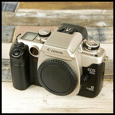 CLEAN RETRO Quartz Date Back Canon EOS 50E Retro 35mm Eye Control Film Camera