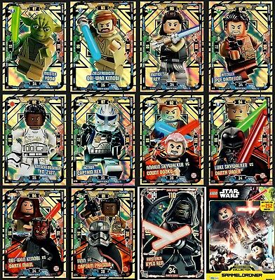 LEGO Star Wars Trading Cards Card Game limitiert LE1-LE24 Serie 1