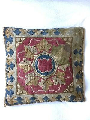VINTAGE RETRO Old Classic Needlepoint Shabby Chic Boho Tapestry Colours Cushion
