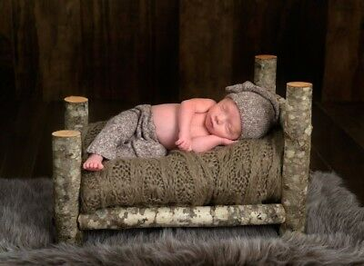 newborn bed photo prop baby photography wooden handmade bed