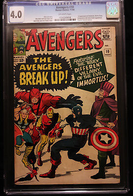 1964 Marvel The Avengers #10 CGC 4.0 Off White Pages