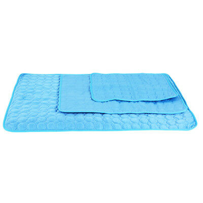 Pet Dog Cat Cooling  Mat Bed Summer Heat Relief Non Toxic Cushion Pad S
