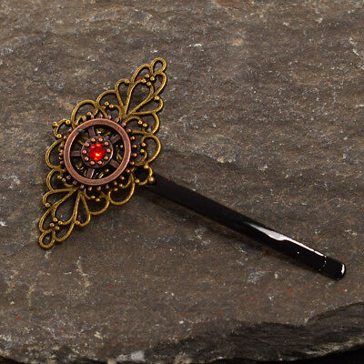Vintage Victorian Steampunk Alloy Gear Hair Pin Bobby Pin Barrette 4 Patterns