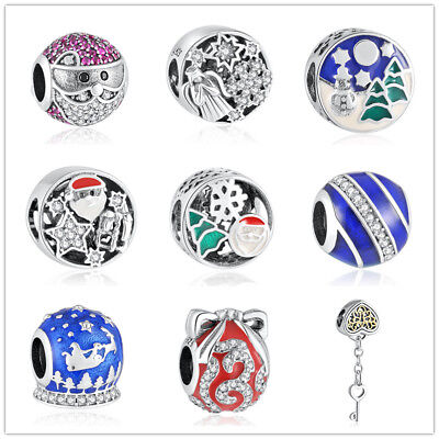 S925 Fashion Bead Fit Bracelets for Women DIY Jewelry Making Christmas Best Gift