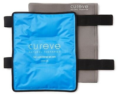 """Large Hot and Cold Therapy Gel Ice Pack with Wrap by Cureve (12"""" x 15"""")"""