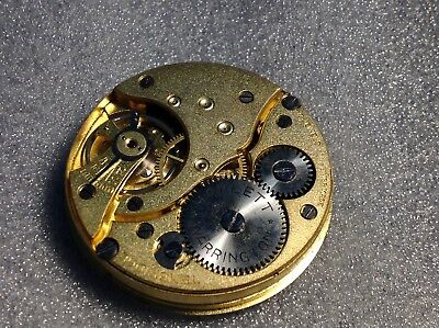 Old English Rare Pocket Watch Movement By Hallet Warrington.