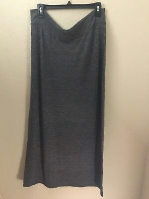 Old Navy Maternity Solid Heather Gray Maxi Skirt XS S M L NWOT