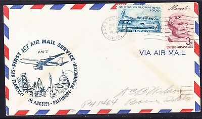 USA 1959 LA to Baltimore AM2 Cover (Navy) Flight Cover