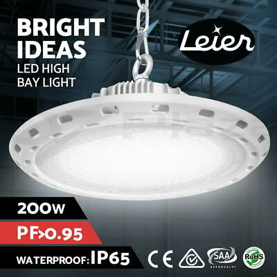 Lumey High Bay LED Light Lamp 200W Factory Warehouse Gym Industrial Shed UFO