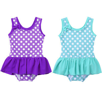 Newborn Baby Girls Swimwear Bikini Dress Swimsuit Bathing Suit Beachwear SZ 0-3Y