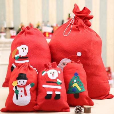 Santa Claus Christmas Snowman Style Candy Gifts Bag Fabric Large Shopping Bags