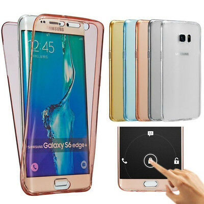 360° Shockproof Clear Silicone Soft TPU Case Cover For Various Samsung Phones