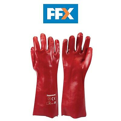 Silverline 868551 Red PVC Gauntlets Large