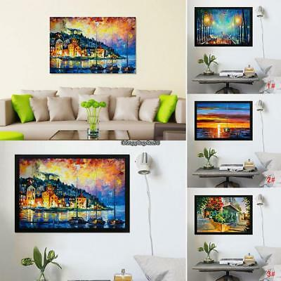 Frameless Huge Wall Art Oil Painting On Canvas Landscape Sunset Home Decor