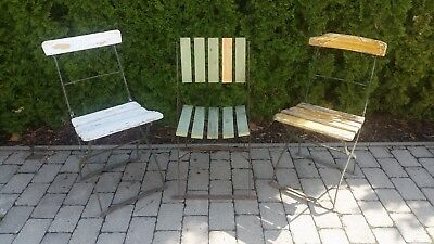2 x biergartenstuhl klappstuhl gartenstuhl shabby vintage. Black Bedroom Furniture Sets. Home Design Ideas