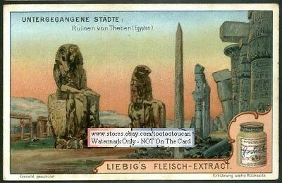 Ancient Egyptian Ruins Of Thebes NICE c1902 Trade Ad Card