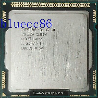100/% OK SLBPT Intel Xeon X3480 3.06 GHz Quad-Core Processor CPU LGA 1156