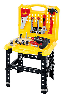 Childrens Kids 57 Piece Work Bench DIY Role Play Toy Set With Tools Drill + T102