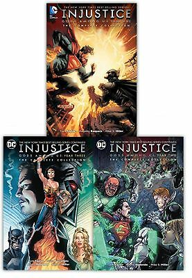 Injustice Gods Among Us The Complete Collection 3 Books Set Year One, Two, Three