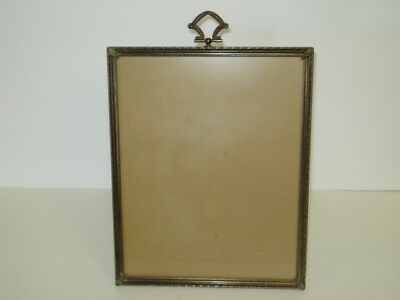 Vintage Ornate Metal 8 X 10 Easel Back Picture Photo Frame