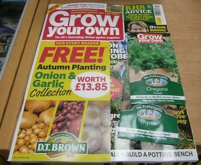 Grow Your Own magazine Oct 2018 Keep growing in October + get the best from plot