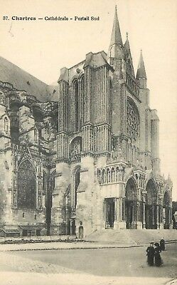 Cp Chartres Cathedrale Portail Sud