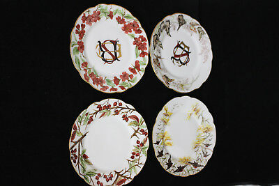 Antique Limoges Porcelain Dinner Service Hand-Painted w/Chinese Motif