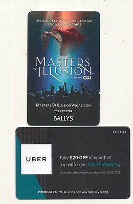 """new release---""""MASTERS of ILLUSION""""----BALLY'S----Las Vegas,NV----Room key"""