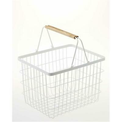 YAMAZAKI home 2809 12.2 x 16.3 in. Tosca Laundry Basket - Medium White