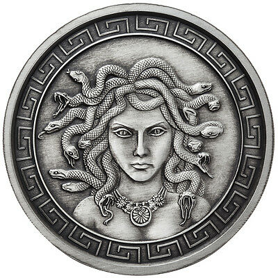 1 Oz Silver Coin Antique Medusa Greek Mythology Girl # Rim-Coa Anonymous Mint
