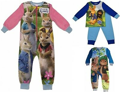 Girls Boys All In One  Sleepsuit Pyjamas Peter Rabbit Beatrix Potter