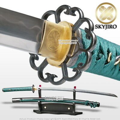 Skyjiro S4 Scallop 1070 Differential Hardened Forge Folded Katana Sword