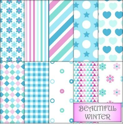 BEAUTIFUL WINTER SCRAPBOOK PAPER - 10 x A4 pages.