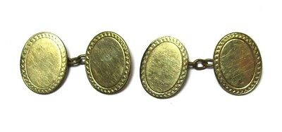 Vintage Cufflinks 9ct Gold Overlay Front and Back on Brass 6.0 grams lot 30g6