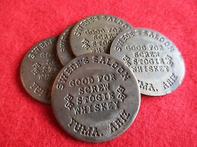Old West Saloon Token, Cathouse Coins, Swedes Saloon..yuma     #co-01830