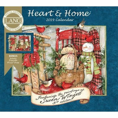 2019 Heart & Home Special Edition 2019 Wall Calendar, Susan Winget by Wells Stre