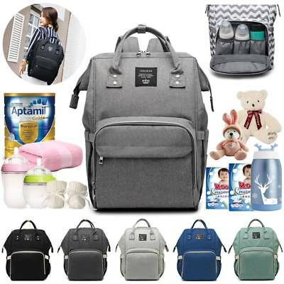 Large Mummy Multifunctional Baby Diaper Nappy Waterproof Backpack Changing Bag