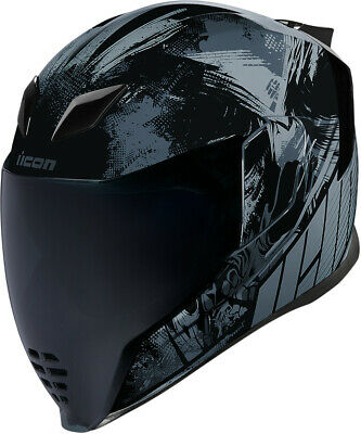 Icon Airflite Stim Black Full Face Helmet Adult All Sizes