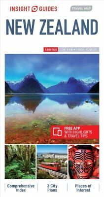 Insight Guides Travel Map of New Zealand, New Zealand Travel Guide 9781786719096