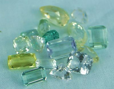 50 Carats.lot Of Mix Color Natural Afghan Kunzite Faceted